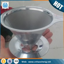 Durable paperless 304 stainless steel pour over kettle brew coffee filter coffee dripper
