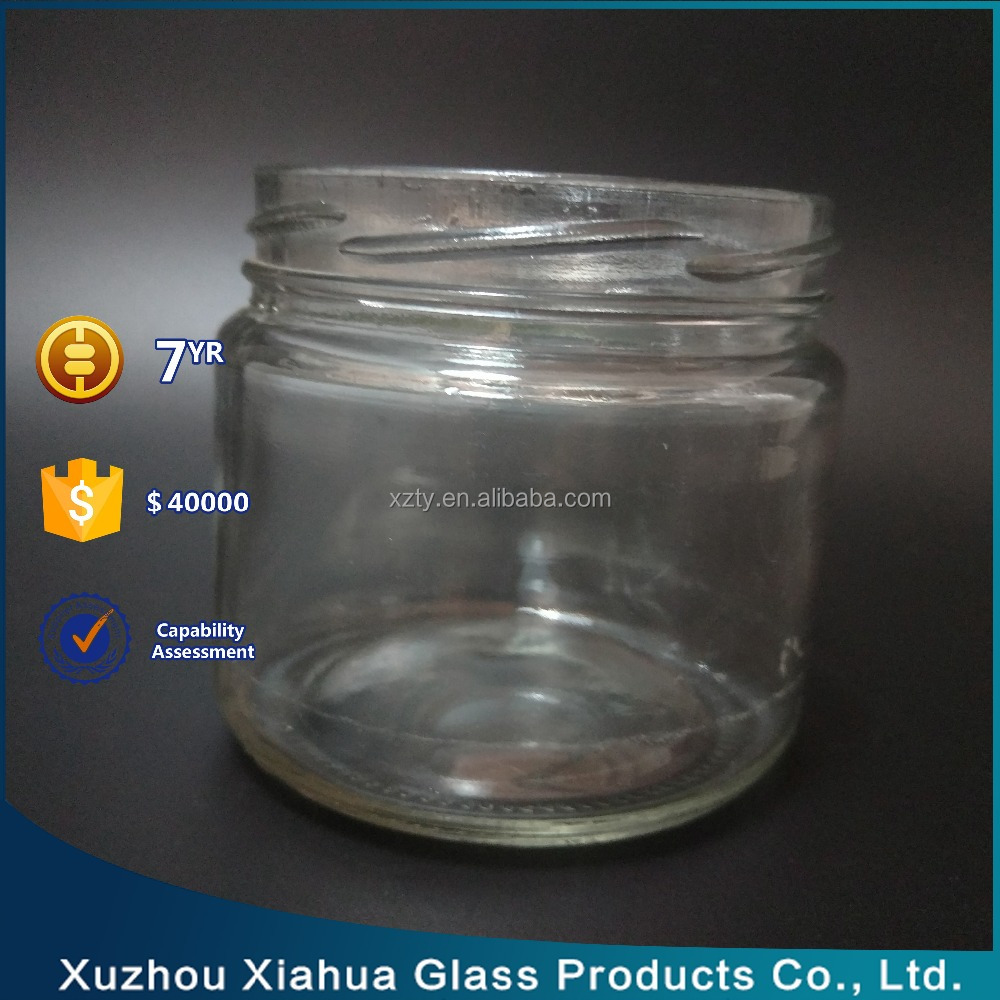 300ml cylinder clear glass Mason jar for Storage Honey Jam packaging with lid wholesale
