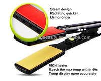 Hair straightening flat iron usb powered hair straightener LED electric wonderful