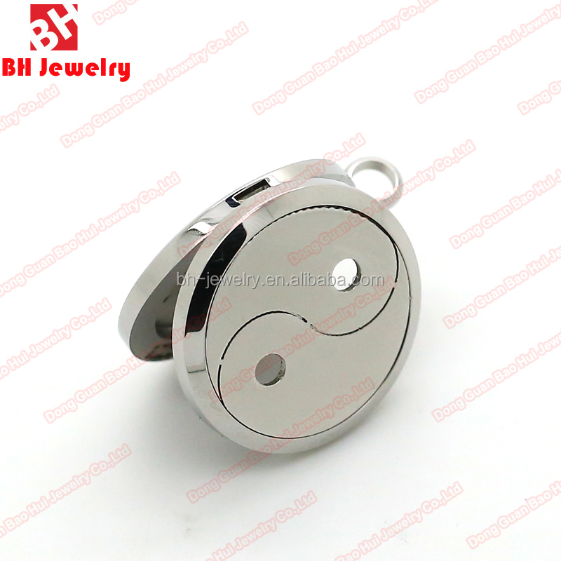 2016 High Quality Magnet 316L Stainless Steel Essential Oil Aromatherapy FengShui Locket