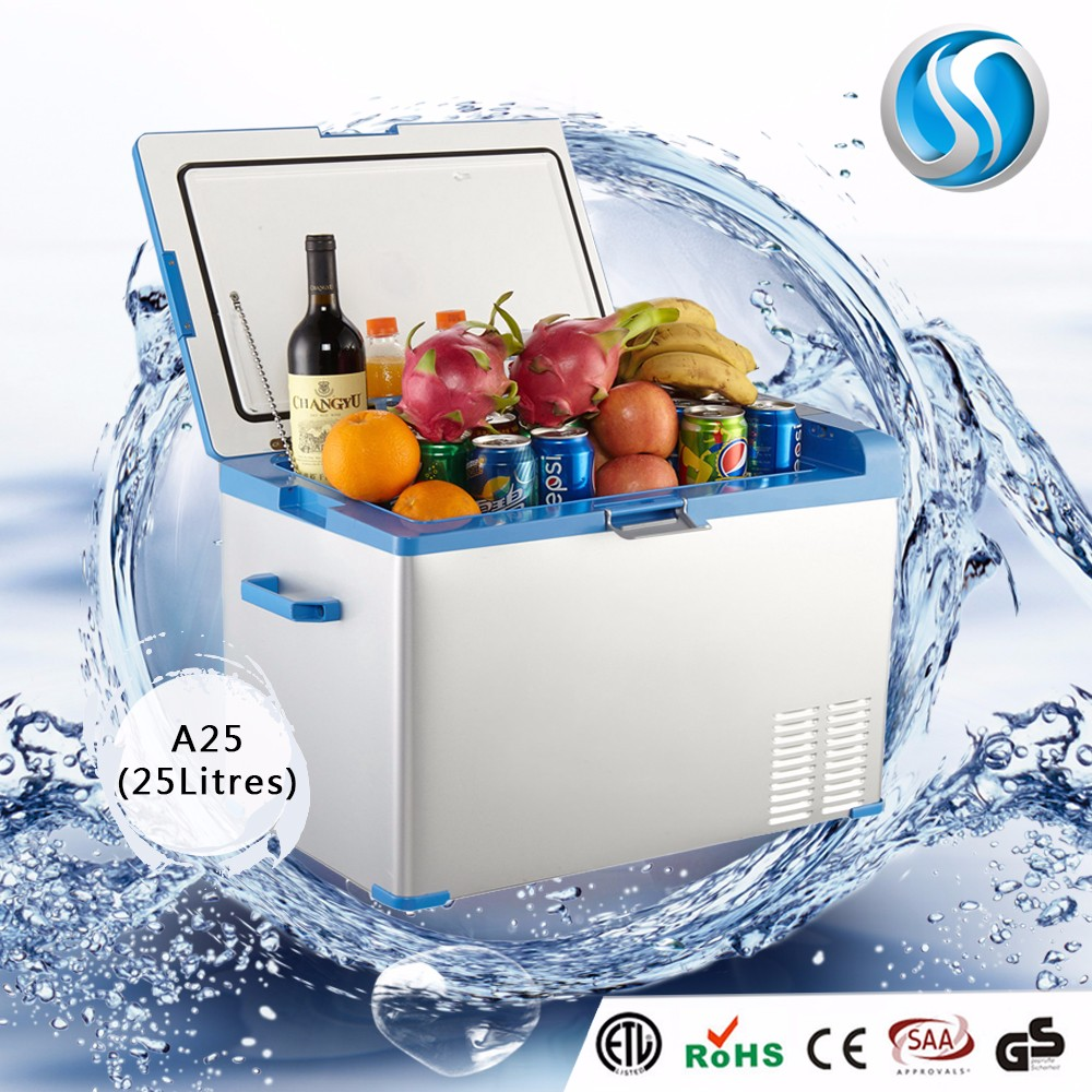A25 Small Commercial Battery Powered Mini Fridge 12V Deep Freezer Portable For Car Mini Refrigerator Freezer