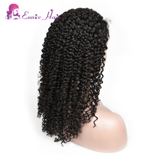Factory Wholesale100% Brazilian Virgin Human Hair Cuticle Aligned Natural Color Kinky Curl Full Lace Wigs