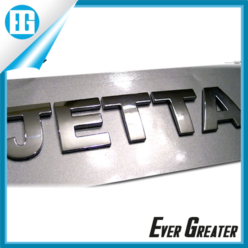 Custom 3d Abs Letters Car Emblem Badge Logos Plastic Car Emblem Custom
