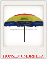 honsen Hot selling beach umbrela promotional and cheap price China supplier produced advertising portable beach umbrella