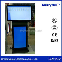 "Horizontal And Vertical Orientation 42"" 46"" 55"" 65"" Inch LCD Dual Screens Advertising Digital Sigange Display"