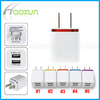 High quality 1A+2A metal US/EU plug travel adapter charger for iphone Samsung HTC LG 2ports ac home adaptor