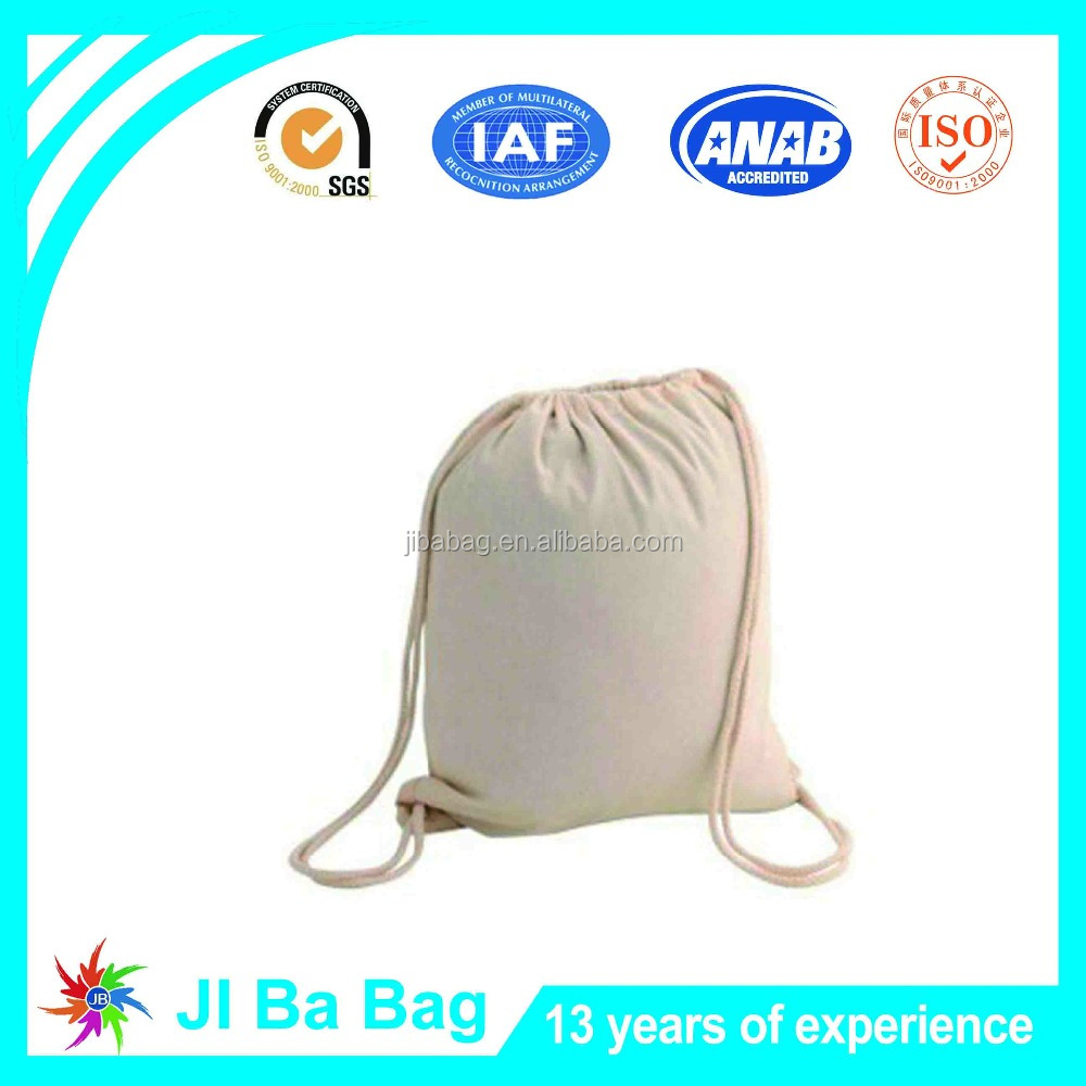 Wholesale Promotion cotton canvas drawstring bag