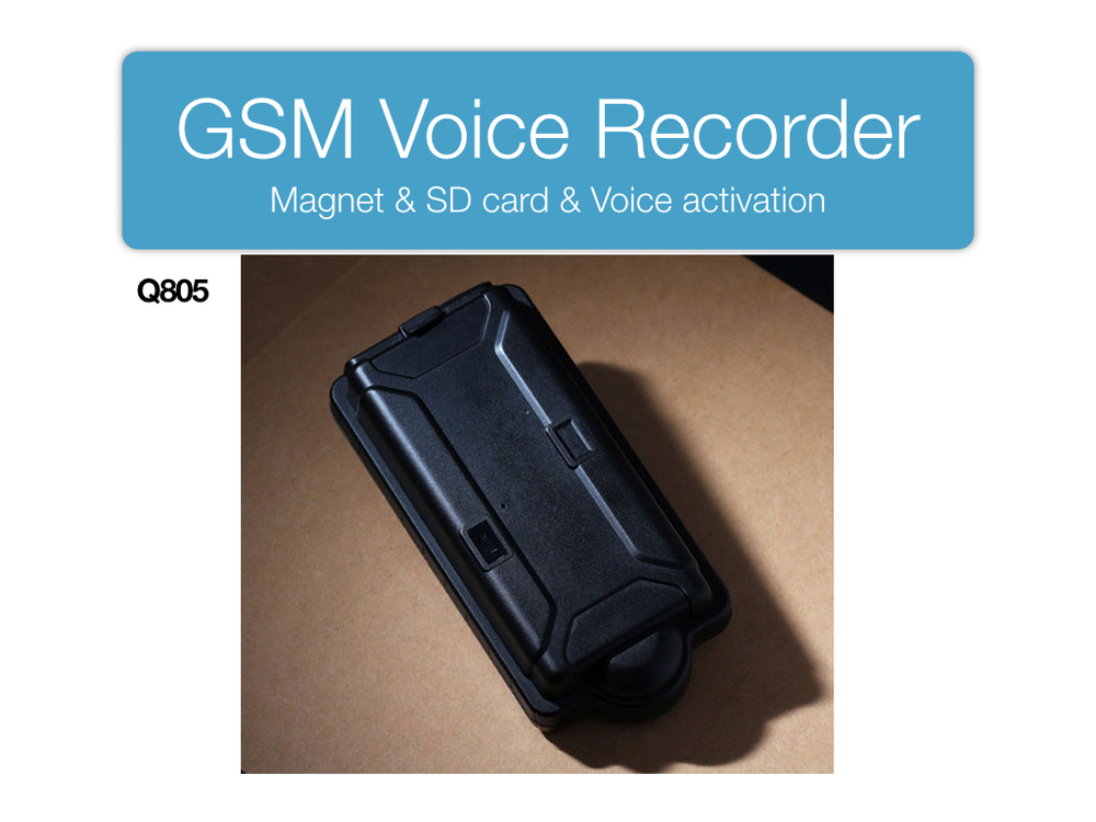Q805 hidden mini micro GSM voice recorder with magnet and remote voice control