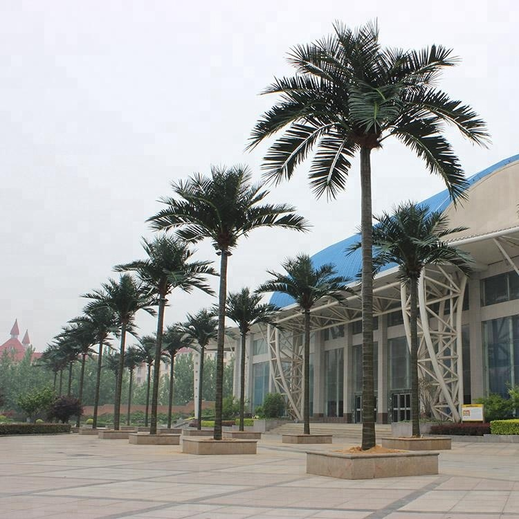 Yafei mass production outdoor exterior plastic artificial date palm coconut tree