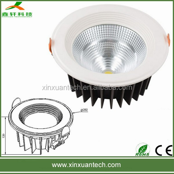 High quality driver built-in dimmable 30w recessed led downlighting