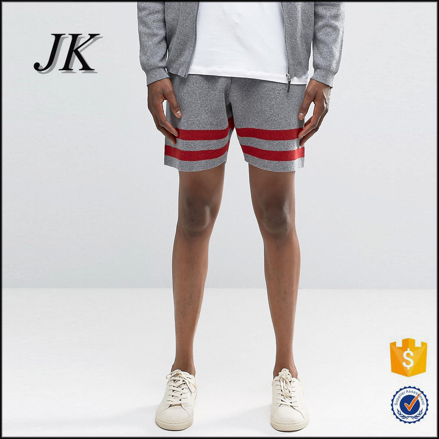 Wholesale microfiber softball shorts with stripes surf shorts for men made in China