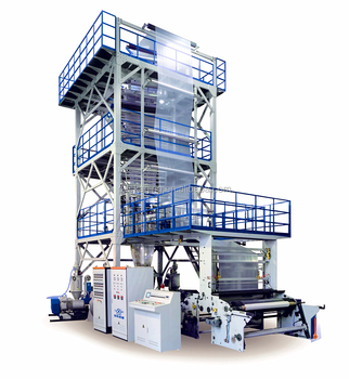 3 layers co-extrusion polythene film blowing machine
