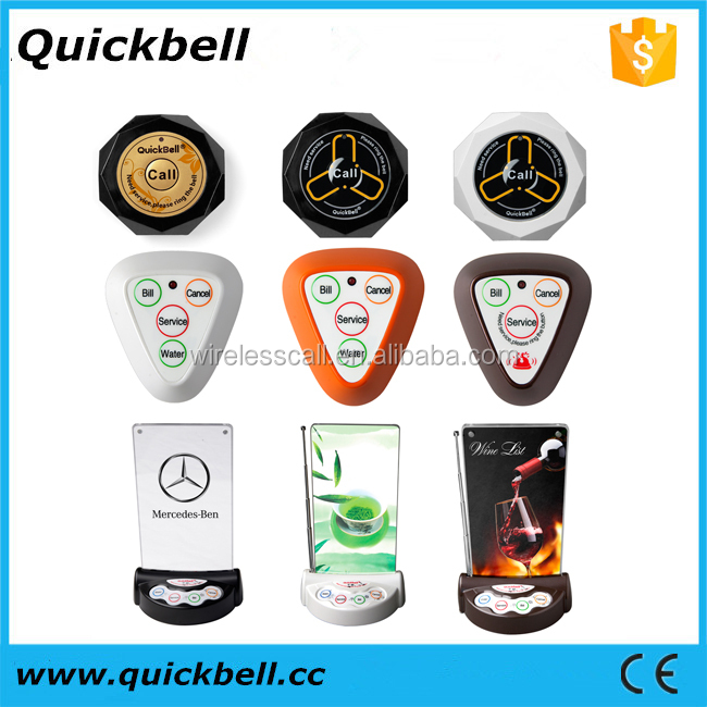 Wireless Call Calling System Waiter Server Service Paging System for Restaurant Wrist Watch Receiver Calling buttons-Quickbell