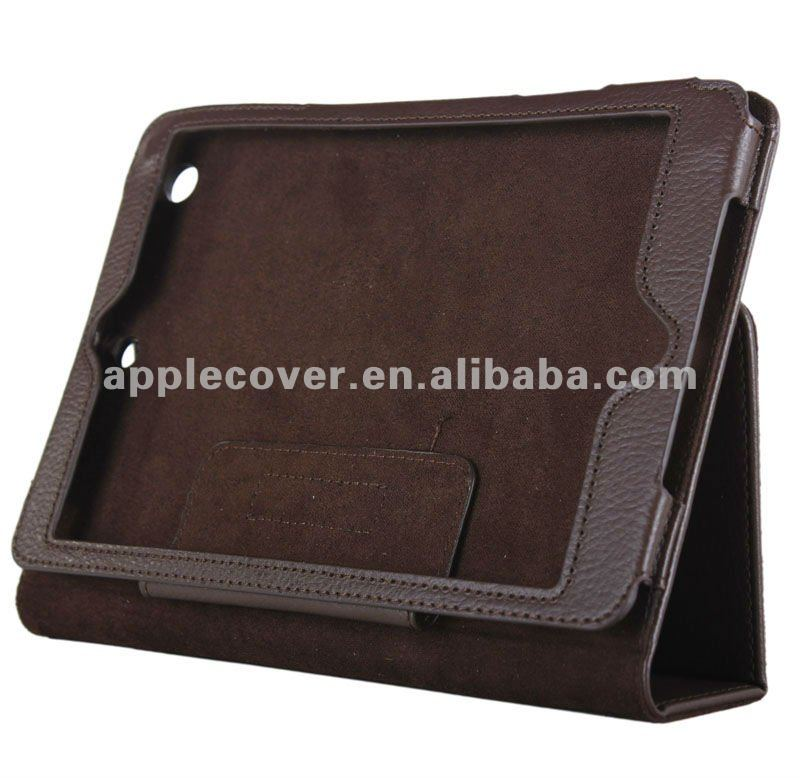FACTORY selling for iPad mini 1/2/3 lichee stand pu cover