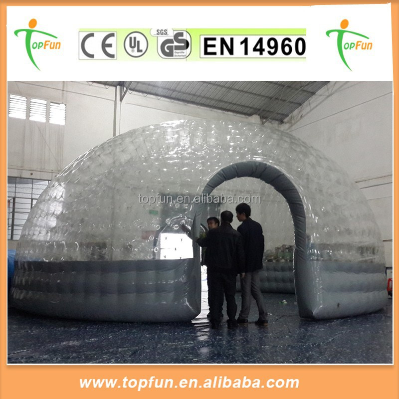 High Quality Double Layers Transparent PVC Inflatable Dome Tent For Sale