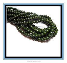 2016 high quality 6mm Round Olive Green Wood Beads Yiwu wholesale