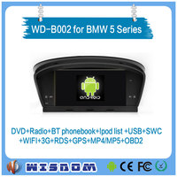 2016 Android car dvd player for BMW 5 series E60 E61 E63 E64 gps navigation digital touch screen car stereo radio