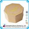 Hot Stamping Gold Color Custom Shaped Hexagonal Cardboard Box