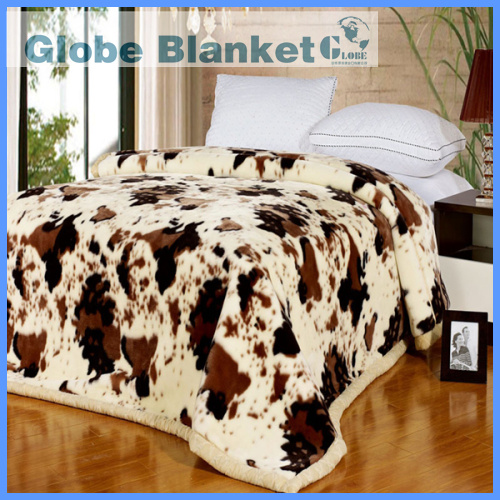 Bright future cow skin print blanket with king size