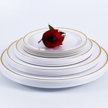 Plastic Disposable <strong>Plate</strong> with golden Rim