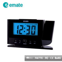 Temperature and current time projection clock projection alarm clock