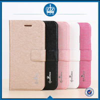 LZB Silk grain series Flip Pu leather case cover for Alcatel One Touch Idol OT6030D