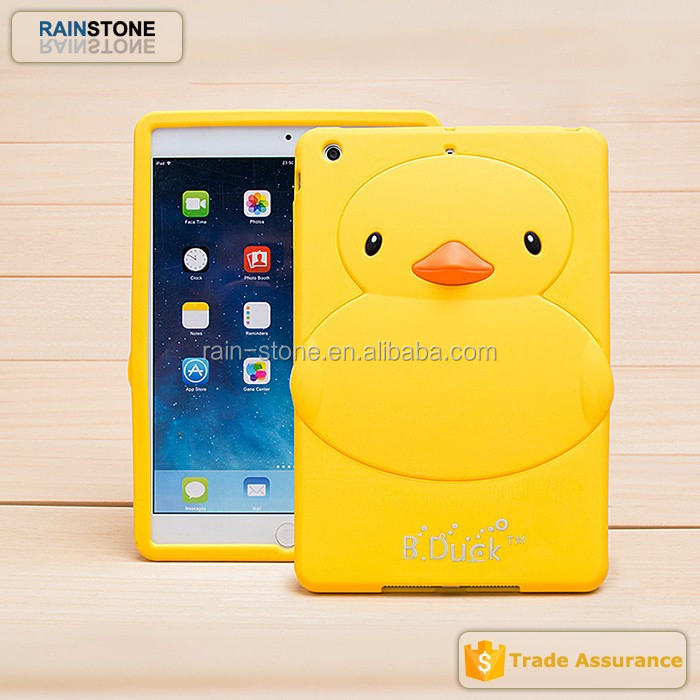 Hot products 3D animal silicone case for ipad 3 cover