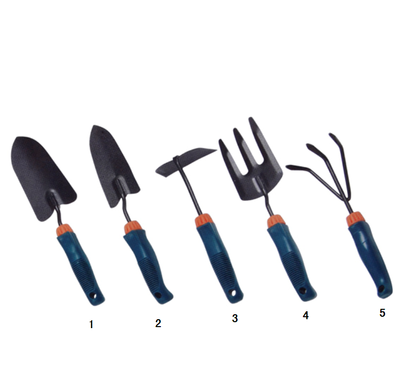 Outdoor Garden Hoe Three Teeth Claw Fork Big Shovel Pointed Shovel Tool Set with Rubber Handle