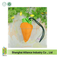 High Quality Carrot Shape Nylon Foldable Shopping Bag