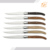 6 difference precious wooden handle laguiole 6 piece steak knives