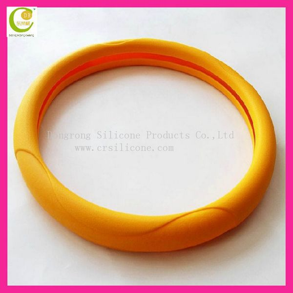 About 33cm shrink car steering wheel cover 2015 orange color world cup china manufacturing hot sale stainless steel wheel cover