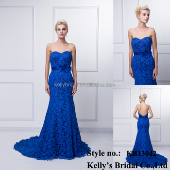 Real photos top quality 2016 new arrival style elegant long traiding sexy off-shoulder royal blue anti-wrinkle evening dress