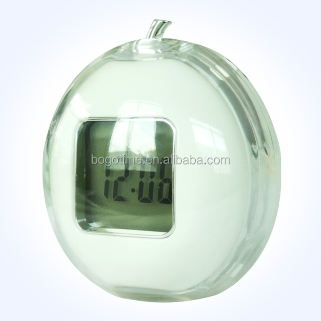 wholesale small battery operated time quartz five bell mini alarm clock