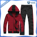 OEM blank long sleeve sports suit plain hoodies and pants wholesale in china