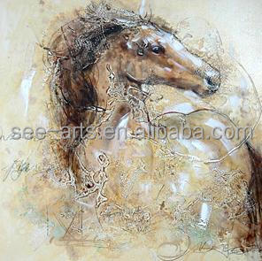Hot Sale Abstract Horse Oil Painting On Canvas
