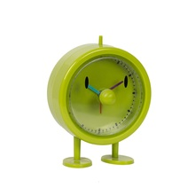 Fancy colored plastic table clock for home decor