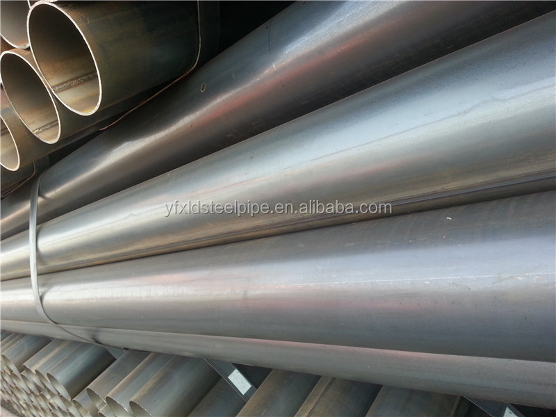 Construction material ERW steel round pipe