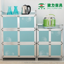 Hot selling aluminum tempered glass cabinet for kitchen household 6K02A