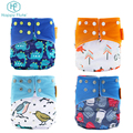 Happyflute washable Suede cloth pocket diaper baby cloth diaper with one microfiber insert
