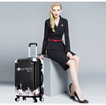 Travel suitcase hard-shell abs pc suitcase with wrap angle