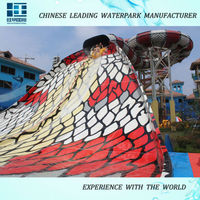 2015 newest fiberglass water slide amusement park slide for sale