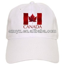 printed cotton souvenir canada baseball caps