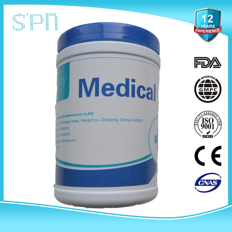 Medical Cleaning Wet Wipe with Customized Tube