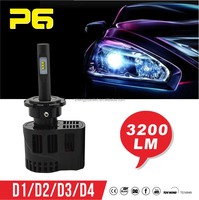 12v 25w All in one motorcycle bulb ZES LED Chip 3200LM/pc P6 LED Headlight d2s headlight bulb