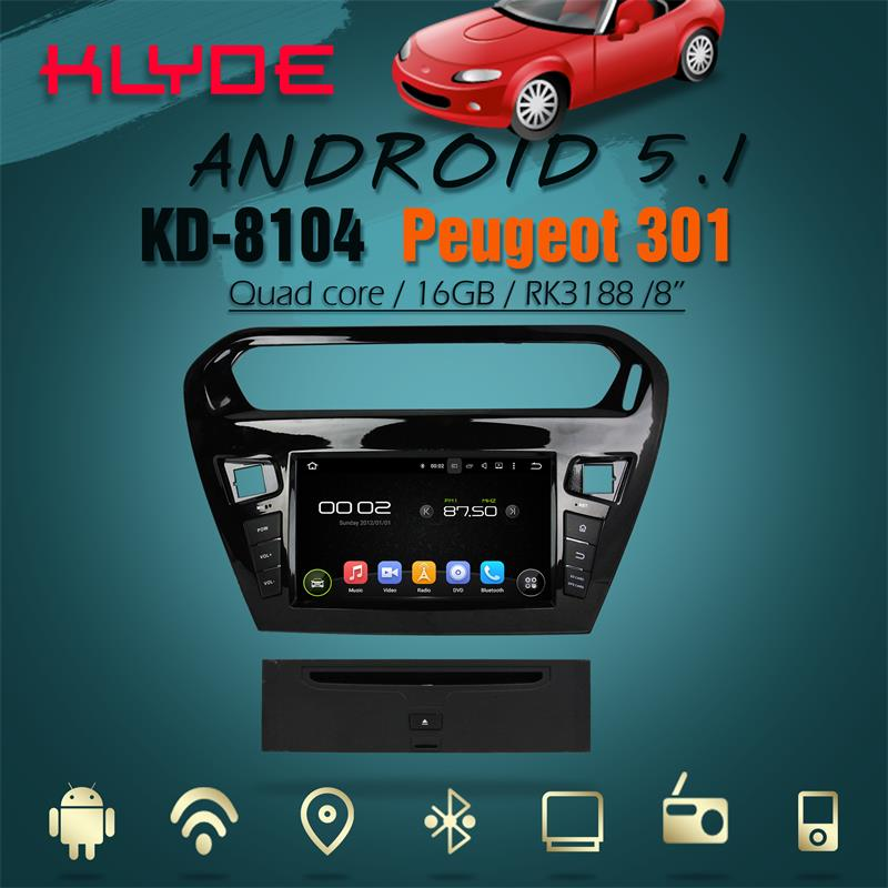 support DAB+ and WAZE map android 5.1.1 car radio for Peugeot 301