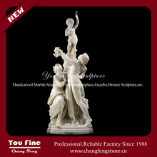 Decorative Garden Life Size Human White Marble Nude Woman Sculpture