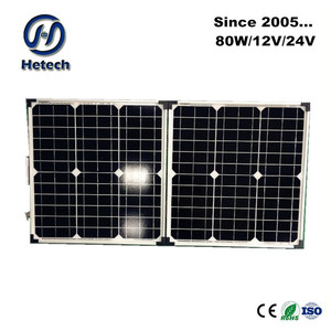efficient absorber of sunlight folding 80w solar panel