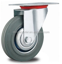 "3""4""5""6""8""10"" swivel/rigid/brake grey rubber industrial caster I002"
