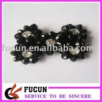 Black Glass Removeable Shoe Clips Wedding