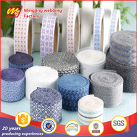 Fashionable factory direct sell colorful customized garment accessory webbing